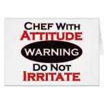 Cocinero con actitud tarjeton