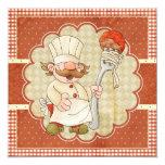 Cocinero con el fiesta de las pastas de los invitación 13,3 cm x 13,3cm