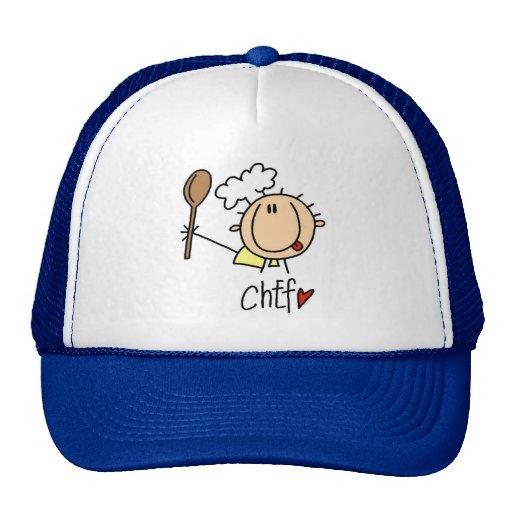 Cocinero con las camisetas y los regalos de la cuc gorra