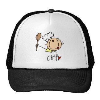 Cocinero con las camisetas y los regalos de la gorra