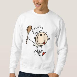 Cocinero con las camisetas y los regalos de la suéter