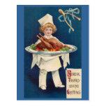 Cocinero con Turquía en el disco y Wishbone Postal