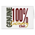 Cocinero culinario auténtico felicitaciones