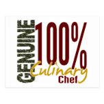 Cocinero culinario auténtico postales