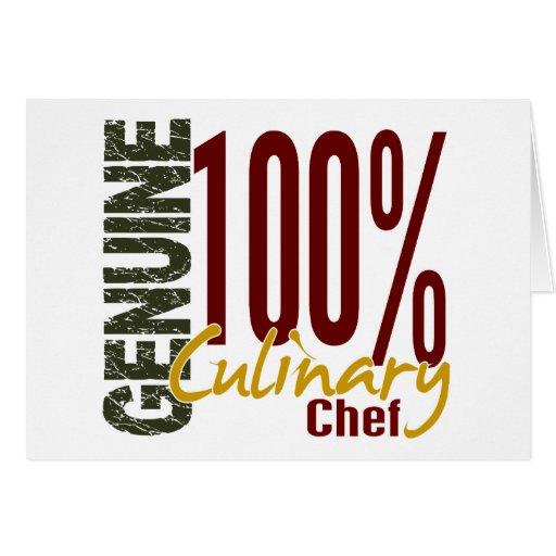 Cocinero culinario auténtico tarjeta de felicitación