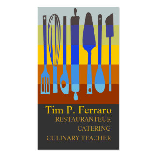 Cocinero culinario de las recetas tarjeta de visita