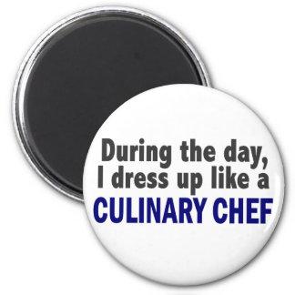 Cocinero culinario durante el día imán de frigorifico