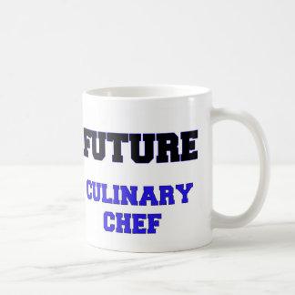 Cocinero culinario futuro taza básica blanca