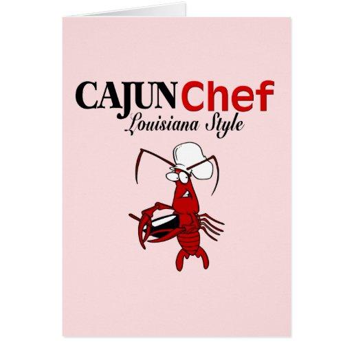 Cocinero de Cajun Felicitacion