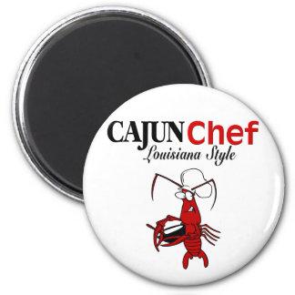 Cocinero de Cajun Imán Redondo 5 Cm