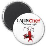 Cocinero de Cajun Imanes Para Frigoríficos