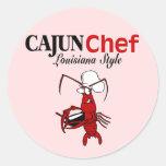 Cocinero de Cajun Pegatinas Redondas