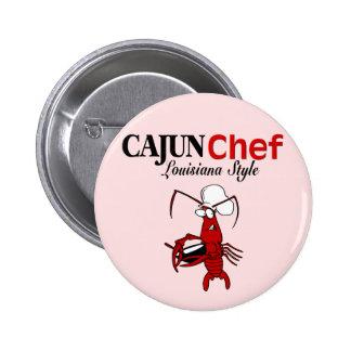 Cocinero de Cajun Pin Redondo De 2 Pulgadas