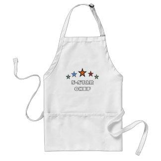 cocinero de cinco estrellas delantal