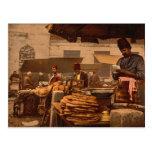 cocinero de la calle en Estambul a partir del sigl Postales