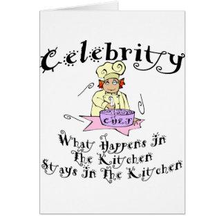 Cocinero de la celebridad tarjeta