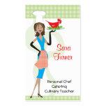 Cocinero de la comida que cocina la tarjeta de vis