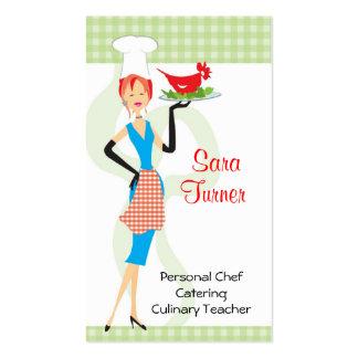 Cocinero de la comida que cocina la tarjeta de vis plantilla de tarjeta de visita