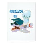Cocinero de la enhorabuena invitación 12,7 x 17,8 cm