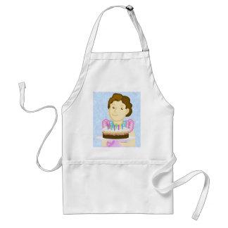 Cocinero de la torta delantal