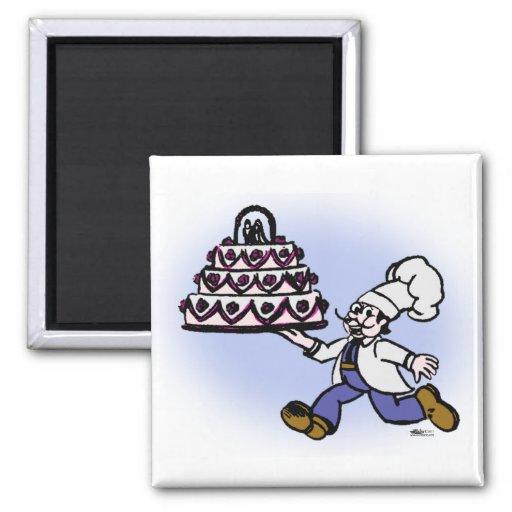 Cocinero de la torta iman para frigorífico