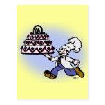 Cocinero de la torta tarjeta postal