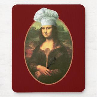 Cocinero de Mona Lisa Mousepads
