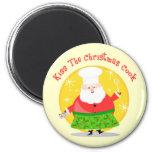 Cocinero de Santa del navidad Imán Para Frigorifico