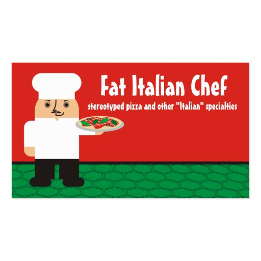 Cocinero de sexo masculino italiano que cocina tarjeta de visita