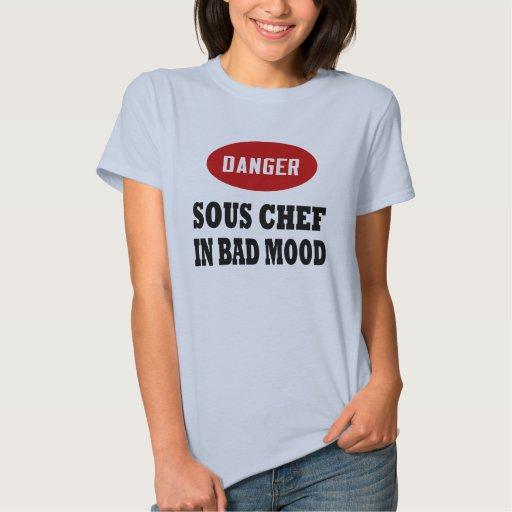Cocinero de Sous del peligro Camiseta