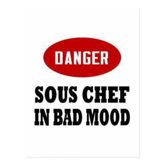 Cocinero de Sous del peligro Postales