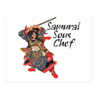 Cocinero de Sous del samurai Postales