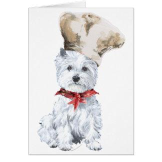Cocinero de Terrier blanco de montaña del oeste Tarjeta De Felicitación