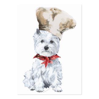 Cocinero de Terrier blanco de montaña del oeste Tarjetas De Visita Grandes