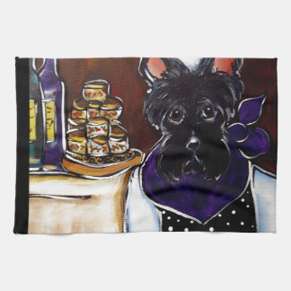 Cocinero de Terrier del escocés Toalla De Cocina