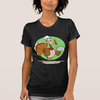 Cocinero de Turquía del dibujo animado que sirve Camiseta