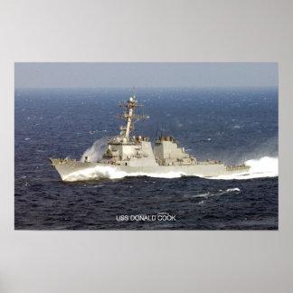 Cocinero de USS Donald Póster