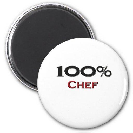 Cocinero del 100 por ciento imán redondo 5 cm