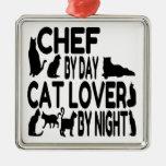 Cocinero del amante del gato ornamento para reyes magos