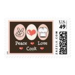 Cocinero del amor de la paz franqueo