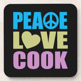 Cocinero del amor de la paz posavasos
