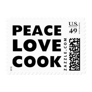 Cocinero del amor de la paz sellos postales