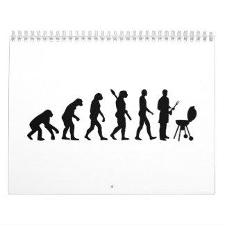 Cocinero del Bbq de la evolución Calendarios De Pared