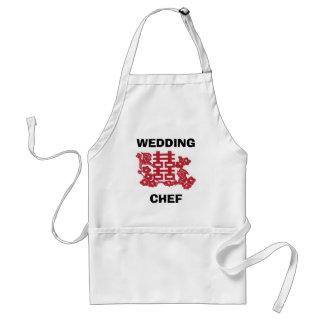 Cocinero del boda delantal