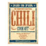 Cocinero del chile de invitaciones invitaciones personalizada