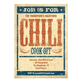 Cocinero del chile de invitaciones