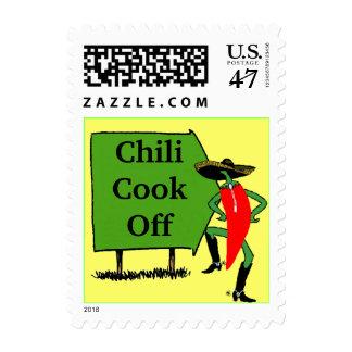 Cocinero del chile de la muestra de los sellos de