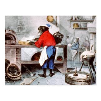 Cocinero del chimpancé postal