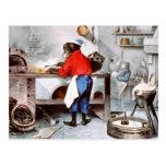 Cocinero del chimpancé tarjeta postal