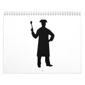 Cocinero del cocinero calendario de pared